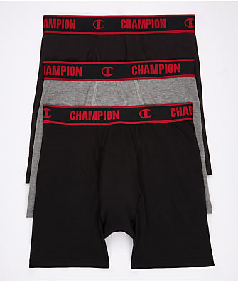 Champion Cotton Performance Boxer Briefs 3-Pack