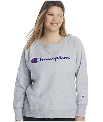 Champion Plus Size Powerblend Graphic Crew Neck Sweatshirt