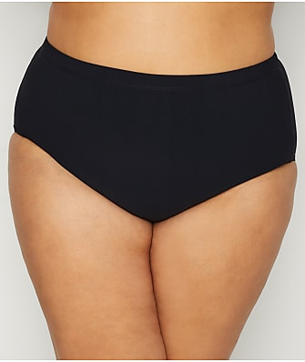 Christina Plus Size Solid High-Waist Bikini Bottom