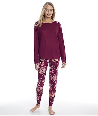 Christian Siriano La Praz Floral Knit Jogger Pajama Set