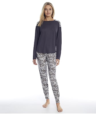 Christian Siriano La Praz Animal Knit Jogger Pajama Set