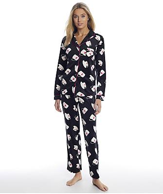 Christian Siriano Cortina Coffee Velour Pajama Set