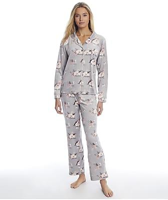 Christian Siriano Cortina Floral Velour Pajama Set