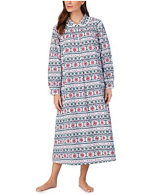 Lanz of Salzburg Snowflake Fair Isle Flannel Nightgown