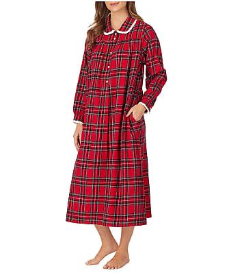 Lanz of Salzburg Red Tartan Flannel Nightgown