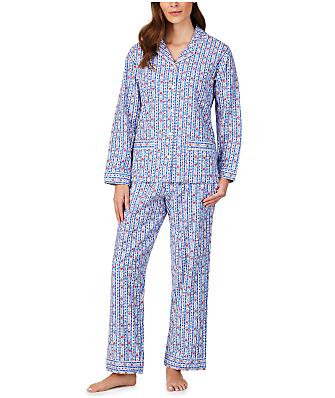 Lanz of Salzburg Classic Flannel Pajama Set