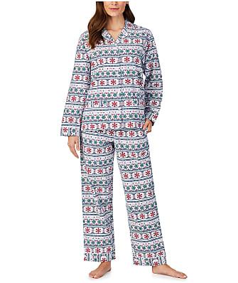 Lanz of Salzburg Fair Isle Flannel Pajama Set