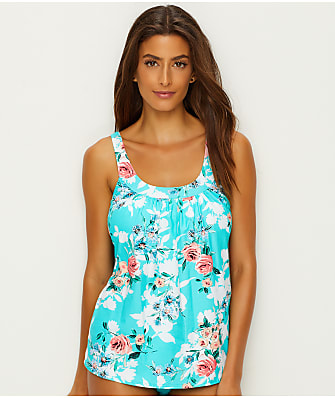 Coco Reef Cliff Rose Ultrafit Tankini Top