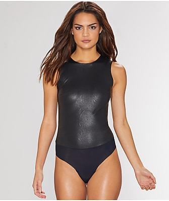 Commando Faux Leather Thong Bodysuit