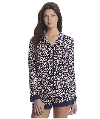Cosabella Bella Printed Knit Top & Boxer Pajama Set
