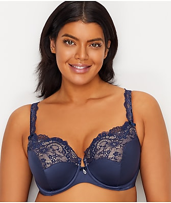 Curvy Couture Tulip Lace Push-Up Bra