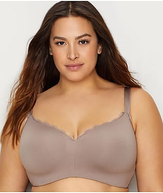 Curvy Couture Cotton Luxe Padded Wire-Free Bra
