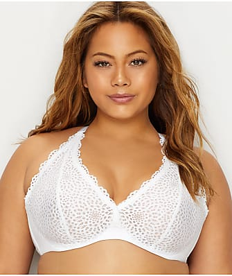 07abe733be Curvy Couture Crochet Lace Racerback Bra