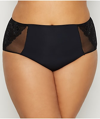 Curvy Couture Glistening Embroidered Brief