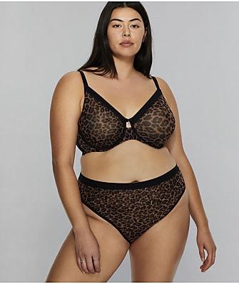 Curvy Couture All You Leopard Mesh Bra