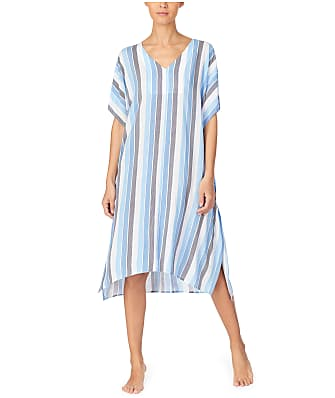 Donna Karan Escape Striped Woven Sleep Caftan