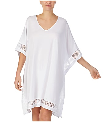 Donna Karan Cotton Luxe Knit Sleep Caftan