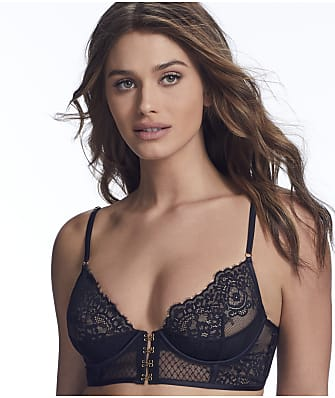 Inner Secrets Lace Longline Front-Close Bra
