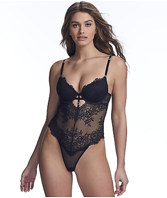 Inner Secrets Underwire Lace Push-Up Teddy