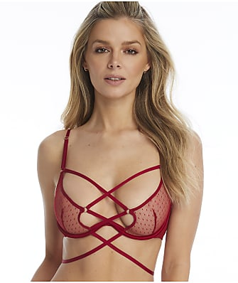 Inner Secrets Red Cage Bra