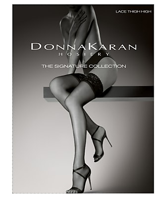 Donna Karan Hosiery Signature Lace Thigh Highs