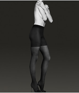 Donna Karan Hosiery Pinstripe Compression Shaping Tights