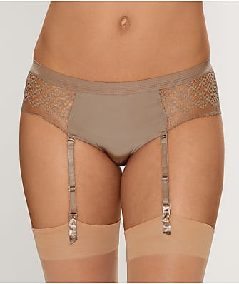 DKNY Sheer Lace Garter Boyshort