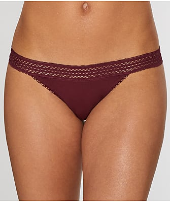 DKNY Classic Cotton Lace Trim Thong