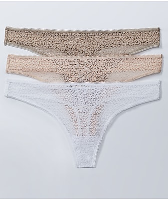 DKNY Modern Lace Thong 3-Pack