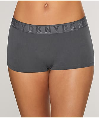DKNY Seamless Litewear Ribbed Boyshort