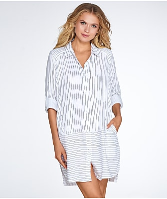DKNY Woven Flannel Sleep Shirt