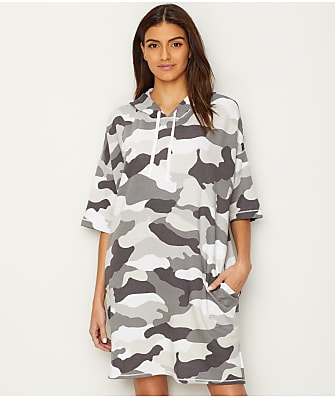 DKNY Urban Armor Hooded Knit Tunic
