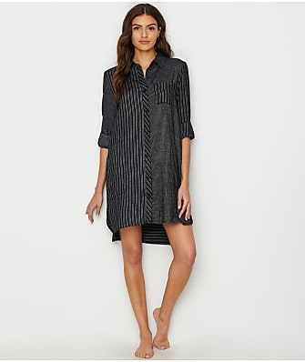 DKNY Hello Fall Woven Flannel Sleepshirt