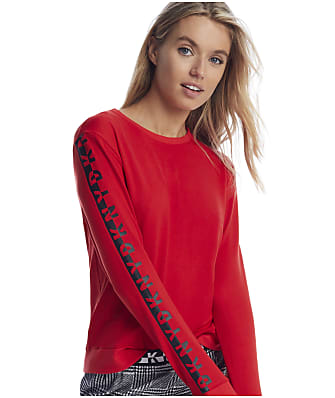 DKNY Rube Red Knit Lounge Top