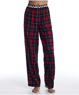 DKNY Ruby Logo Checkered Knit Pajama Pants