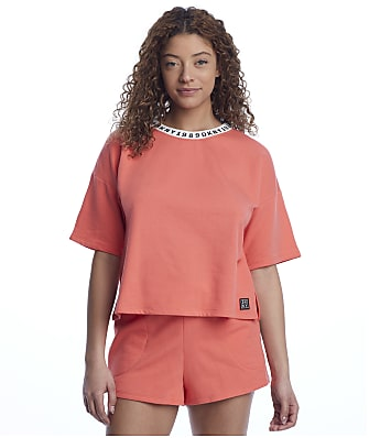 DKNY Sleepwear Calling Knit Lounge Shorts Set