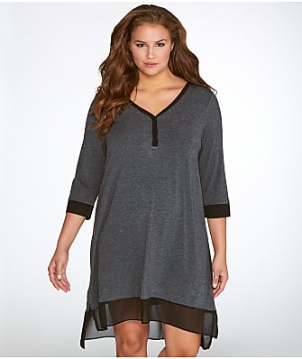 DKNY Plus Size Season Silhouettes Sleep Shirt