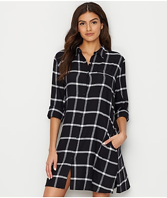 Donna Karan Flannel Sleep Shirt