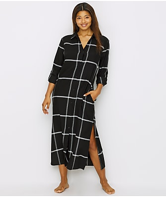 Donna Karan Flannel Long Sleep Shirt