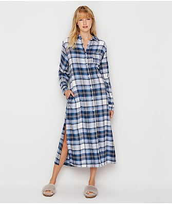 Donna Karan Flannel Long Sleep Shirt