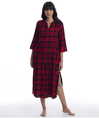 Donna Karan Lips Woven Maxi Sleep Shirt