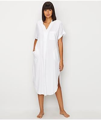 Donna Karan Seersucker Woven Maxi Sleep Shirt