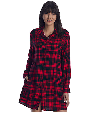 Donna Karan Sleepwear Plaid Woven Sleep Shirt