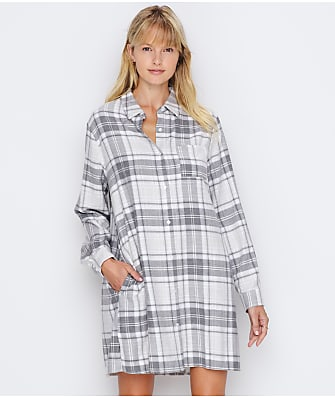 Donna Karan Flannel Sleep Shirt