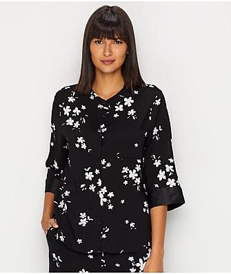 Donna Karan Iscose Weave Woven Pajama Top