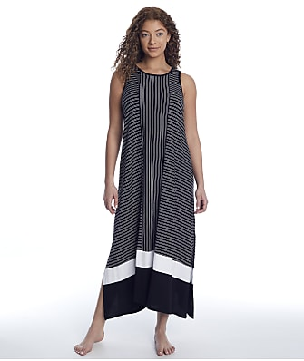 Donna Karan Sleepwear Get In Line Modal Long Gown