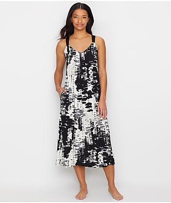 Donna Karan Printed Sleeveless Knit Nightgown