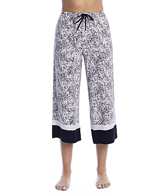Donna Karan Sleepwear Elevated Neutrals Modal Capri Pajama Pants
