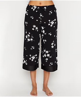 Donna Karan Viscose Woven Capri Pajama Pants