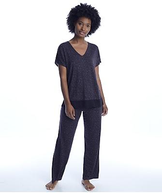 Donna Karan Sleepwear Charcoal Animal Modal Pajama Set